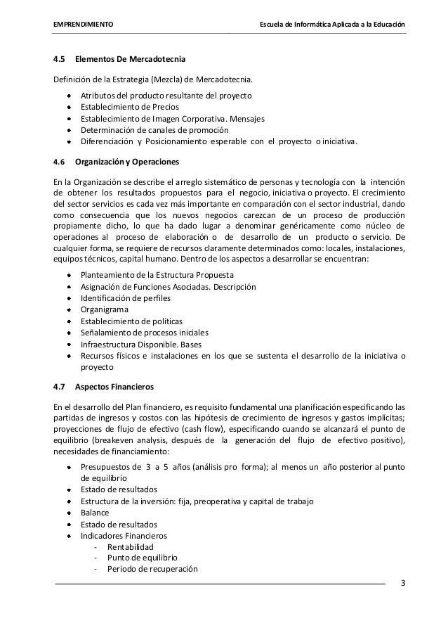 EMPRENDIMIENTO  4.5  Escuela de Informática Aplicada a la Educación  Elementos De Mercadotecnia  Definición de la Estrateg...