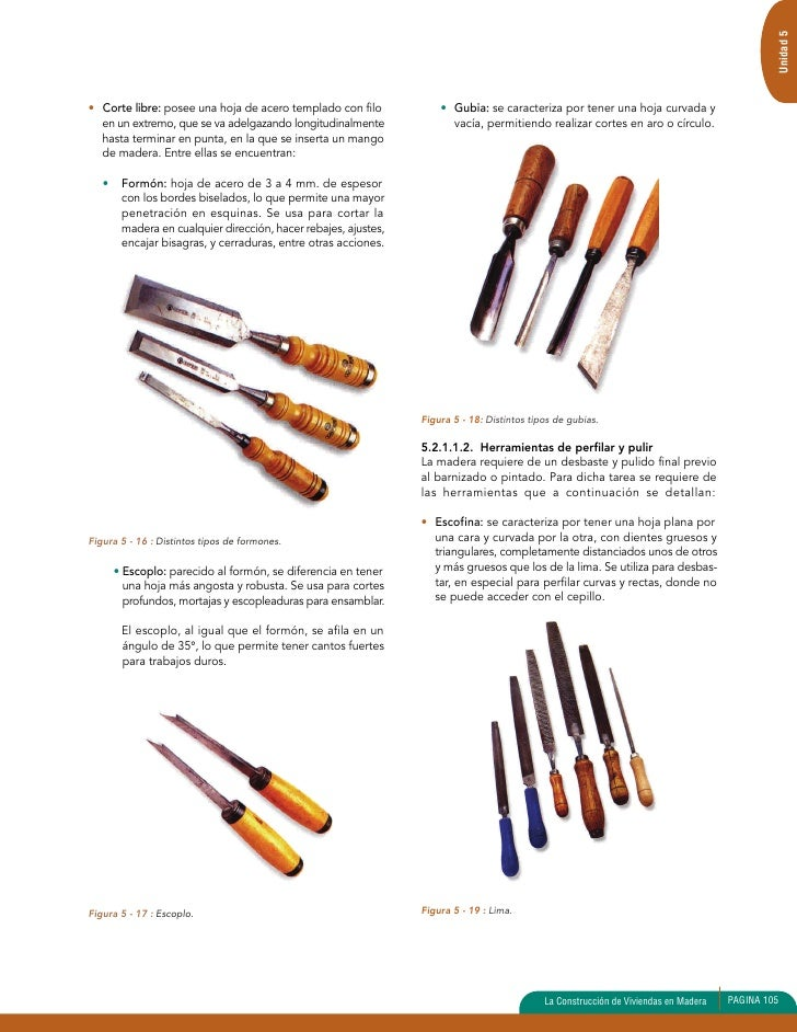 Unidad 5 herramientas 1 - Herramientas para cortar madera ...