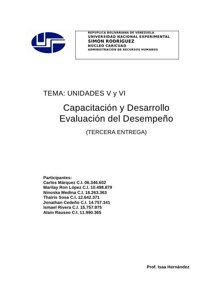REPÚPLICA BOLIVARIANA DE VENEZUELA                      UNIVERSIDAD NACIONAL EXPERIMENTAL                      SIMÓN RODRÍ...