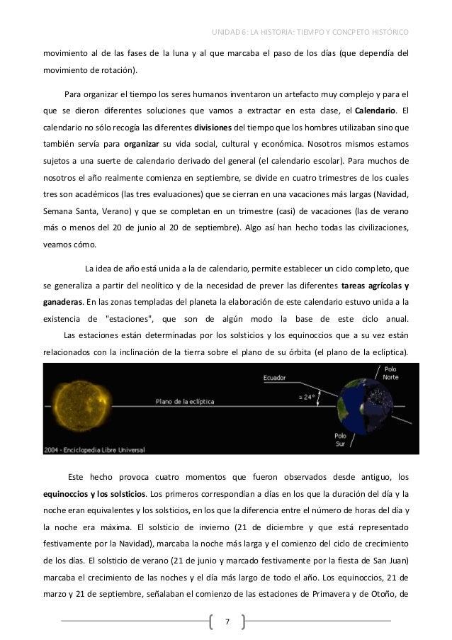 Unidad 6 Historia Y Tiempo Hist Rico