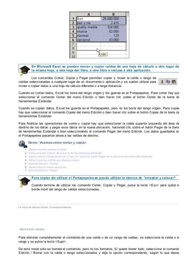 INFORMATICA - TEMA 6 CONCEPTOS BASICOS DE EXCEL - FP A DISTANCIA ANDA…