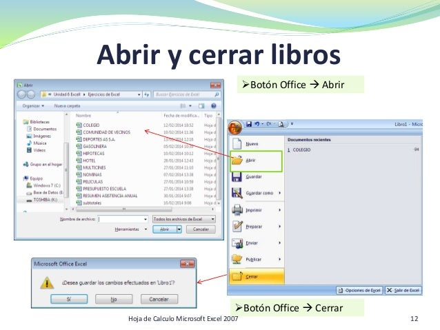 Hoja de Cálculo. Microsoft Office Excel 2007