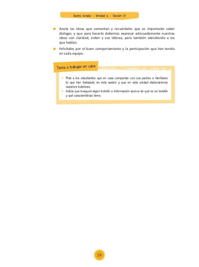 Anexo 1 Sexto Grado Ficha de preguntas para orientar el diálogo Modelo de ficha de preguntas para orientar el diálogo (eje...