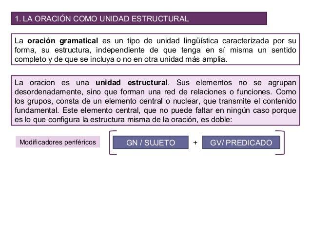 Unidad 7 La Estructura Oracional