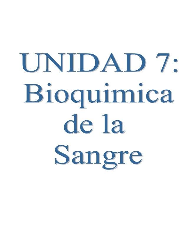 BIOQUIMICA EN LA SANGRE Como ya sabemos la bioquímica es una ciencia que estudia la composición química y biológica de los...