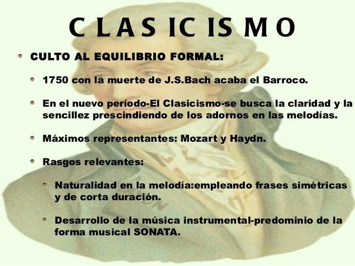 Clasicismo romanticismo - Epoca del clasicismo ...