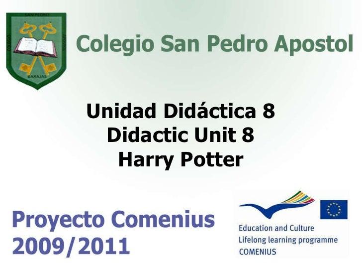 Unidad Didáctica 8 Didactic Unit 8 Harry Potter