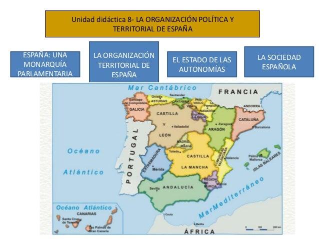 Unidad didáctica 8- LA ORGANIZACIÓN POLÍTICA Y TERRITORIAL DE ESPAÑA ESPAÑA: UNA MONARQUÍA PARLAMENTARIA LA ORGANIZACIÓN T...