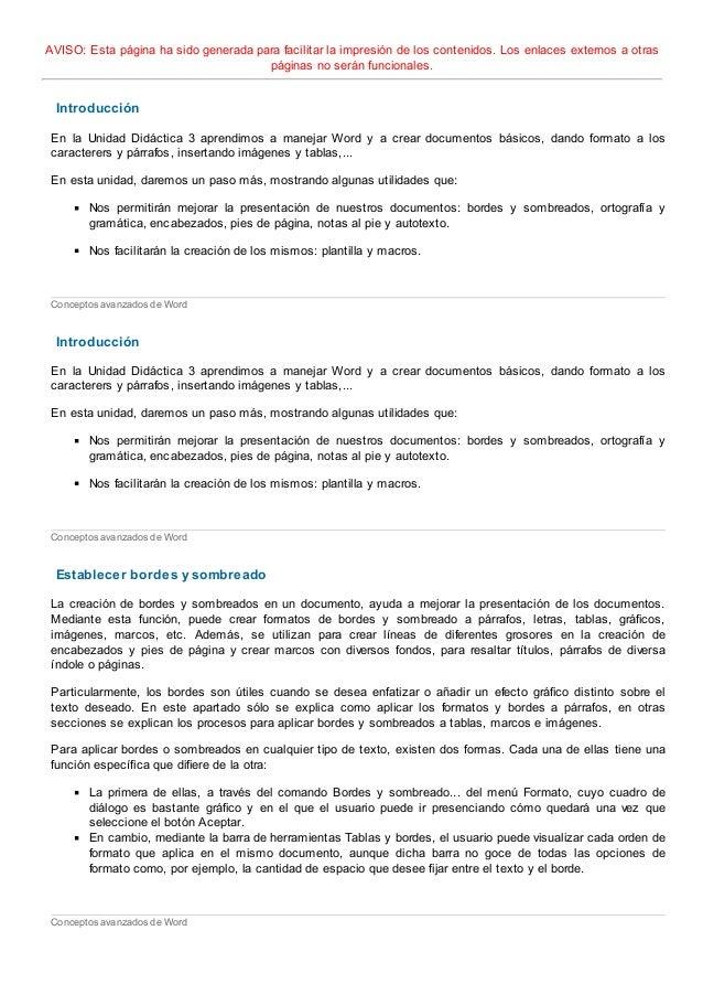 INFORMATICA - TEMA 9 WORD AVANZADO - FP A DISTANCIA ANDALUCIA - GRADO…