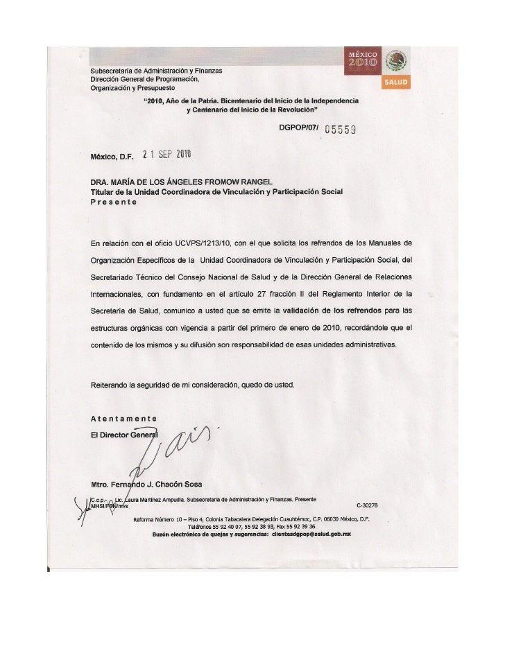 SECRETARÍA DE SALUDMANUAL DE ORGANIZACIÓN ESPECIFICO DE LA UNIDAD COORDINADORA DE VINCULACIÓN Y         PARTICIPACIÓN SOCI...