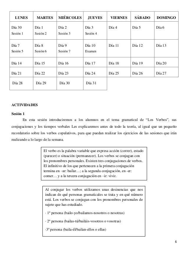 Unidad Didáctica de Los verbos