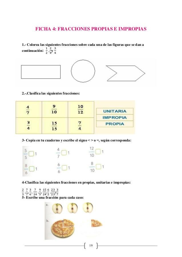 Excepcional Fracciones Impropias Hojas De Trabajo Imágenes - hojas ...
