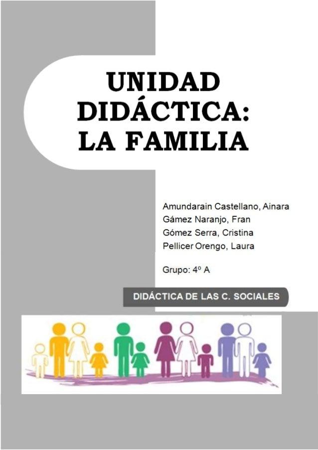 Unidad Didactica La Familia