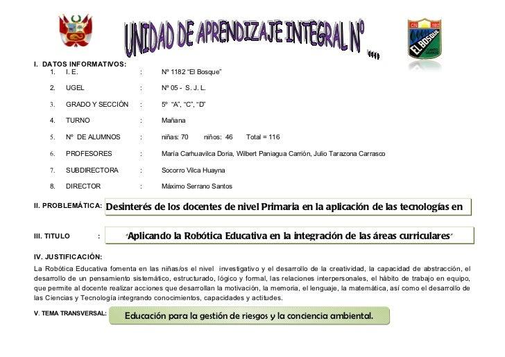 Unidad didactica 2011_5º