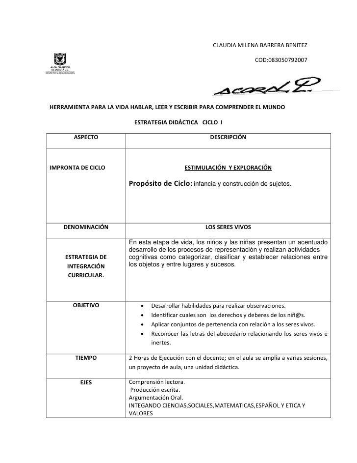 CLAUDIA MILENA BARRERA BENITEZ                                                                        COD:083050792007HERR...