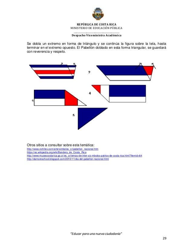 Unidad Diáctica mes de la Patria 2016. MEP.
