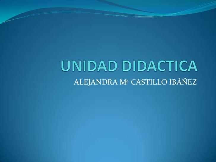 ALEJANDRA Mª CASTILLO IBÁÑEZ