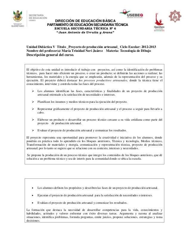 """DIRECCIÓN DE EDUCACIÓN BÁSICADEPARTAMENTODEEDUCACIÓNSECUNDARIATÉCNICAESCUELA SECUNDARIA TÉCNICA Nº 6""""Juan Antonio de Urrut..."""