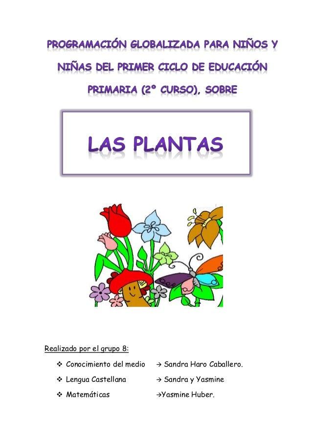 Realizado por el grupo 8: Conocimiento del medio  Sandra Haro Caballero. Lengua Castellana  Sandra y Yasmine Matemáti...