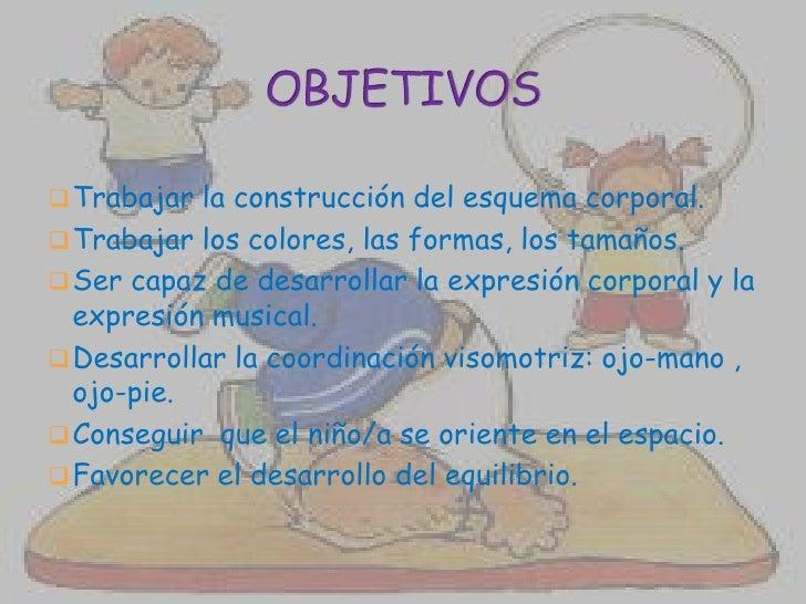 Unidad didáctica. una sesión de psicomotricidad. Slide 3
