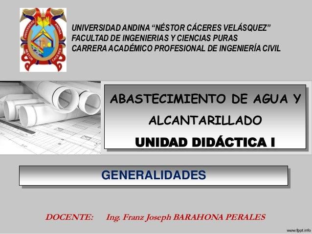 """UNIVERSIDAD ANDINA """"NÉSTOR CÁCERES VELÁSQUEZ""""FACULTAD DE INGENIERIAS Y CIENCIAS PURASCARRERA ACADÉMICO PROFESIONAL DE INGE..."""