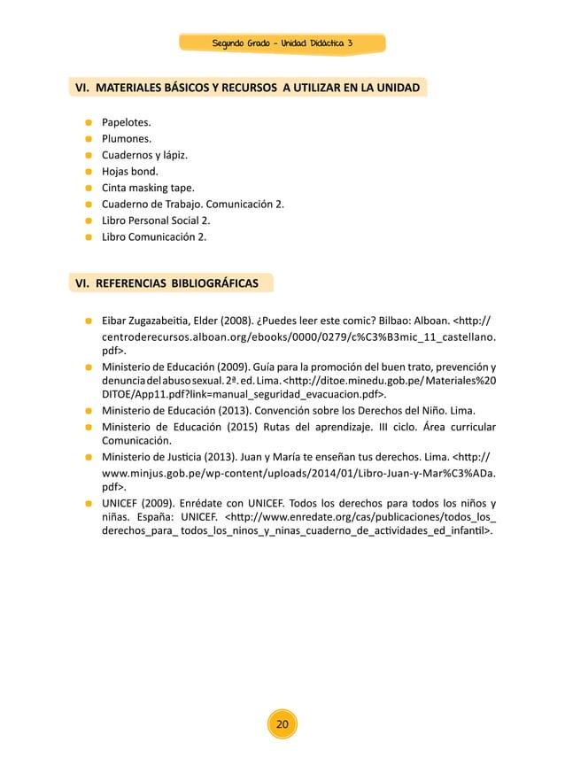 """Unidad didáctica n° 03 """"conocemos y difundimos los derechos de los niños y las niñas""""   áreas de comunicación, personal so..."""