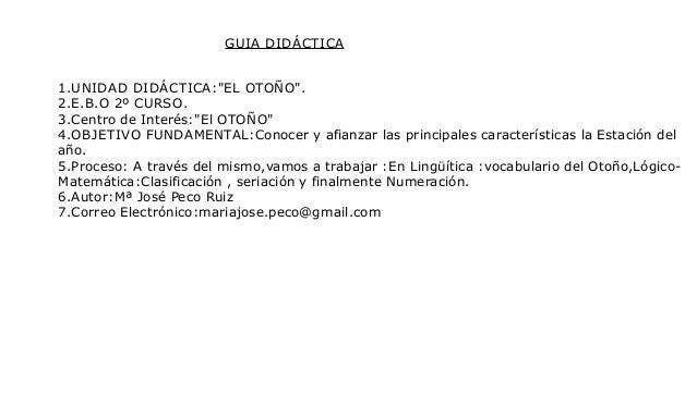 """CENTRO DE INTERÉS:""""EL OTOÑO"""""""