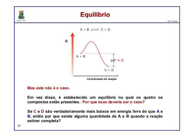 DQOI - UFC Prof. Nunes 27 Mas este não é o caso. Em vez disso, é estabelecido um equilíbrio no qual os quatro os compostos...