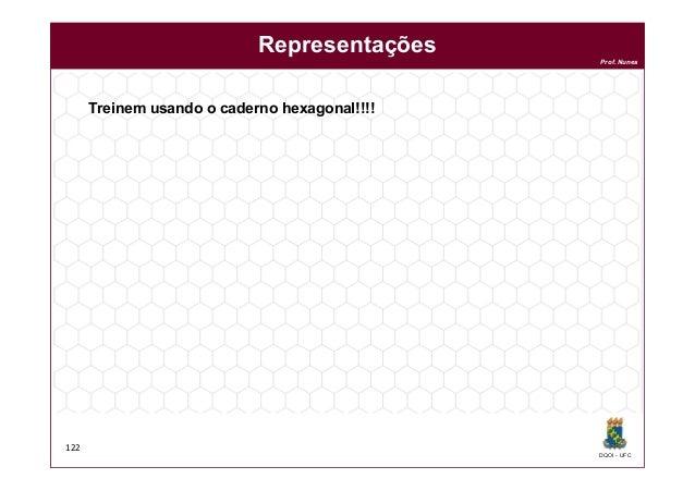 DQOI - UFC Prof. Nunes 122 Representações Treinem usando o caderno hexagonal!!!!