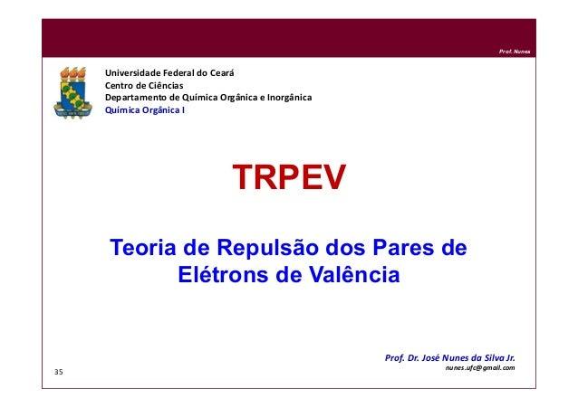 DQOI - UFC Prof. Nunes 35 TRPEV Teoria de Repulsão dos Pares de Elétrons de Valência Universidade Federal do Ceará Centro ...