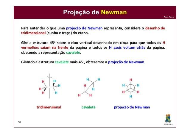 DQOI - UFC Prof. Nunes Projeção de Newman 58 Para entender o que uma projeção de Newman representa, considere o desenho de...
