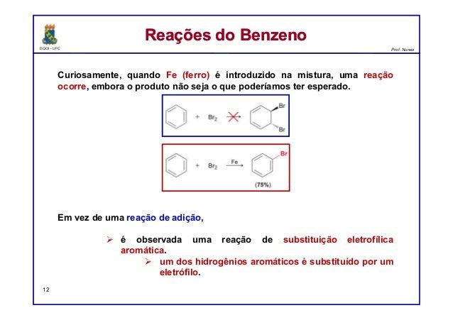 DQOI - UFC Prof. Nunes Curiosamente, quando Fe (ferro) é introduzido na mistura, uma reação ocorre, embora o produto não s...
