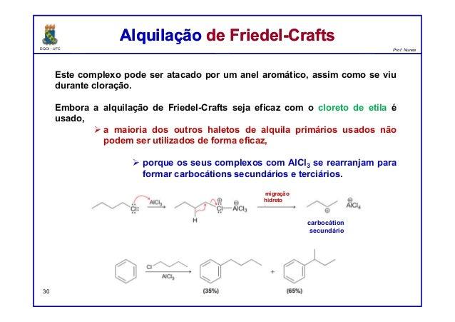 DQOI - UFC Prof. Nunes Este complexo pode ser atacado por um anel aromático, assim como se viu durante cloração. Embora a ...
