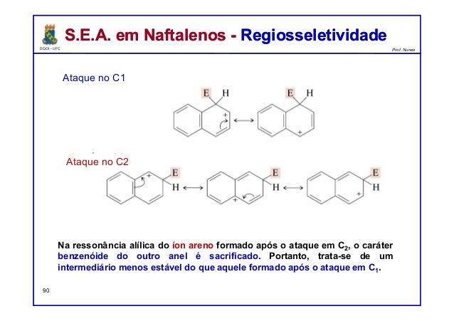 DQOI - UFC Prof. Nunes S.E.A. em Naftalenos - RegiosseletividadeS.E.A. em Naftalenos - Regiosseletividade Na ressonância a...