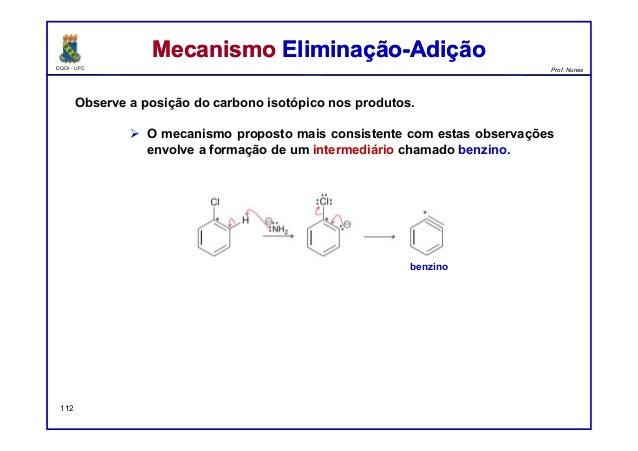 DQOI - UFC Prof. Nunes Observe a posição do carbono isotópico nos produtos.  O mecanismo proposto mais consistente com es...
