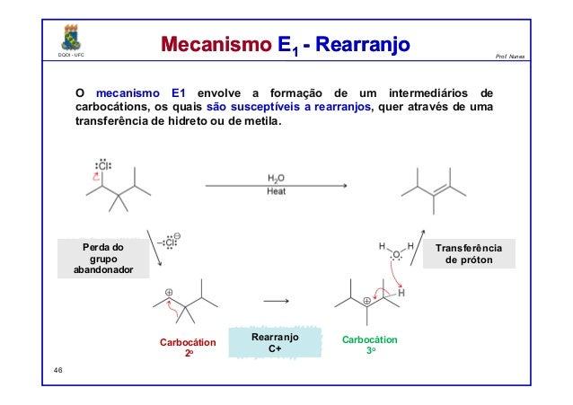 DQOI - UFC Prof. Nunes DQOI - UFC Prof. Nunes Mecanismo E1 - RearranjoMecanismo E1 - Rearranjo O mecanismo E1 envolve a fo...