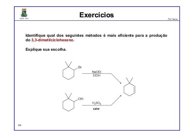 DQOI - UFC Prof. Nunes DQOI - UFC Prof. Nunes ExercíciosExercícios Identifique qual dos seguintes métodos é mais eficiente...