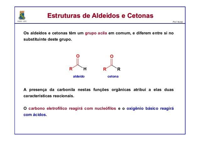 Reações de Aldeídos e Cetonas Slide 2