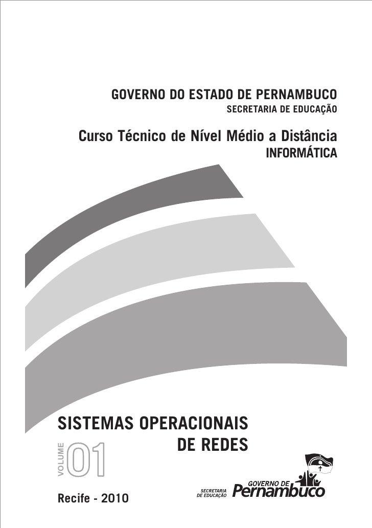 GOVERNO DO ESTADO DE PERNAMBUCO                                SECRETARIA DE EDUCAÇÃO           Curso Técnico de Nível Méd...