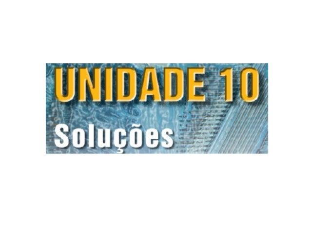 Unidade10   soluções