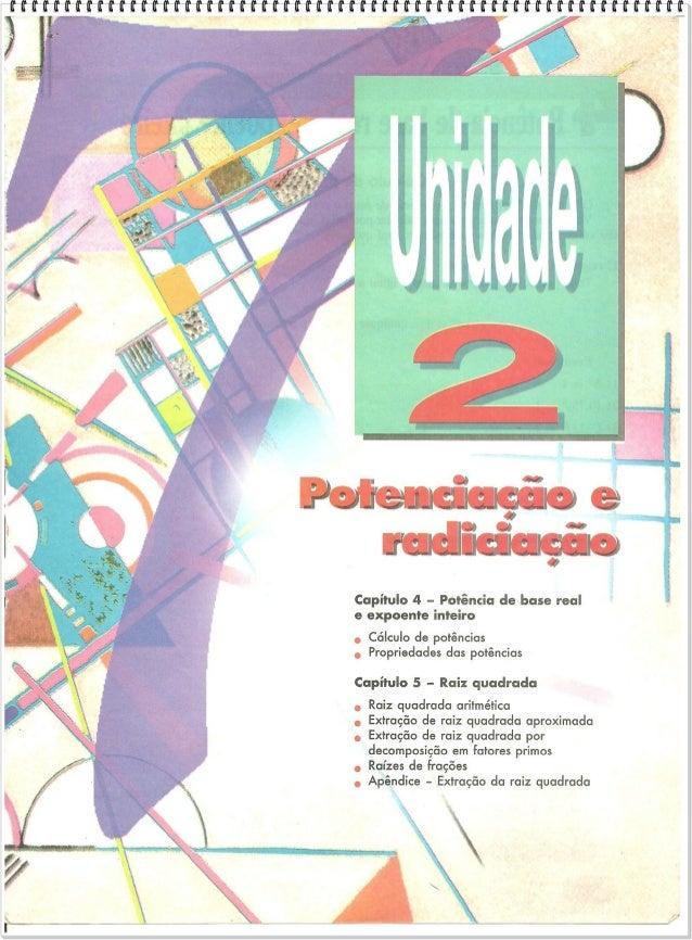 Unidade 2 POTENCIAÇÃO E RADIAÇÃO