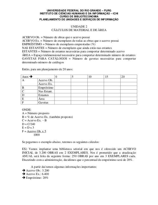 UNIVERSIDADE FEDERAL DO RIO GRANDE – FURG             INSTITUTO DE CIÊNCIAS HUMANAS E DA INFORMAÇÃO – ICHI                ...