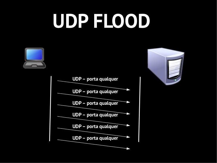 UDP FLOOD UDP – porta qualquer UDP – porta qualquer UDP – porta qualquer UDP – porta qualquer UDP – porta qualquer UDP – p...