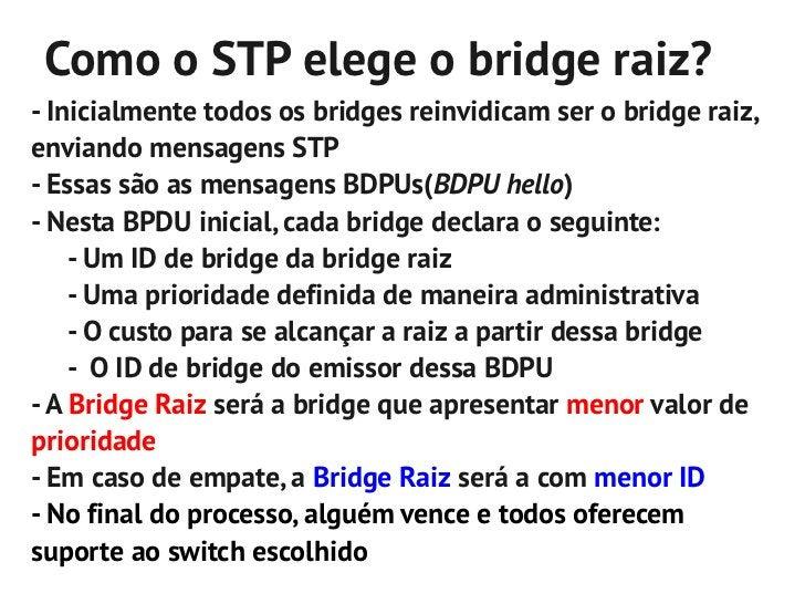 Ex.: Cenário com STP habilitado               Raiz: SW1               Custo: 0               Pri: 32,768                  ...