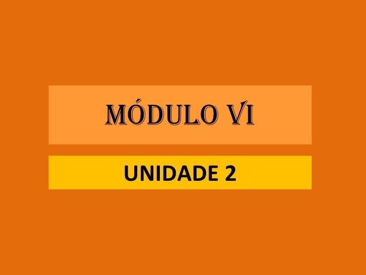 MÓDULO VI UNIDADE 2