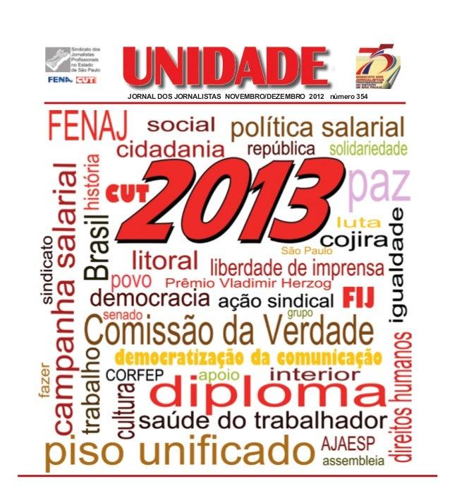 JORNAL DOS JORNALISTAS NOVEMBRO/DEZEMBRO 2012 número 354