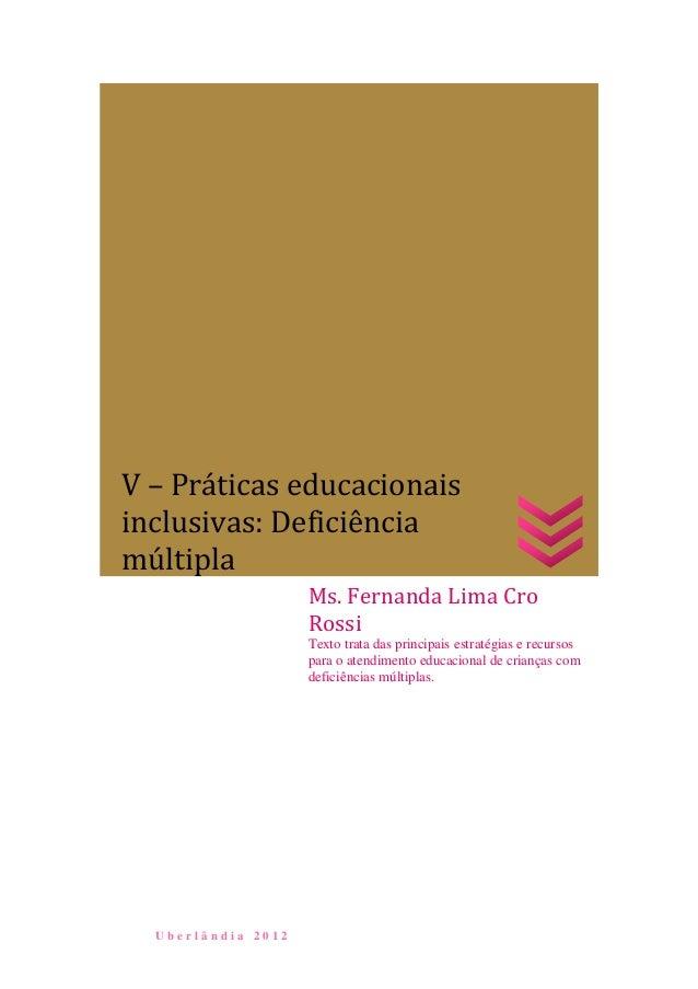 U b e r l â n d i a 2 0 1 2Ms. Fernanda Lima CroRossiTexto trata das principais estratégias e recursospara o atendimento e...