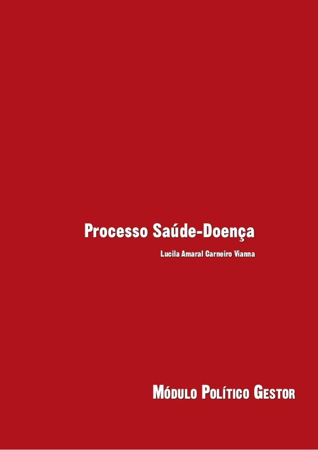 Processo Saúde-Doença         Lucila Amaral Carneiro Vianna        Módulo Político Gestor