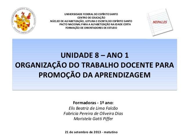 UNIVERSIDADE FEDERAL DO ESPÍRITO SANTO CENTRO DE EDUCAÇÃO NÚCLEO DE ALFABETIZAÇÃO, LEITURA E ESCRITA DO ESPÍRITO SANTO PAC...