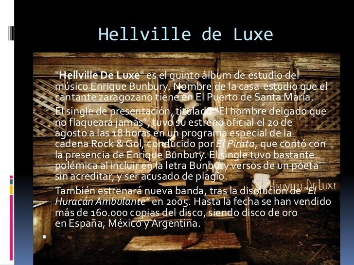 bunbury hellville de luxe vinilo